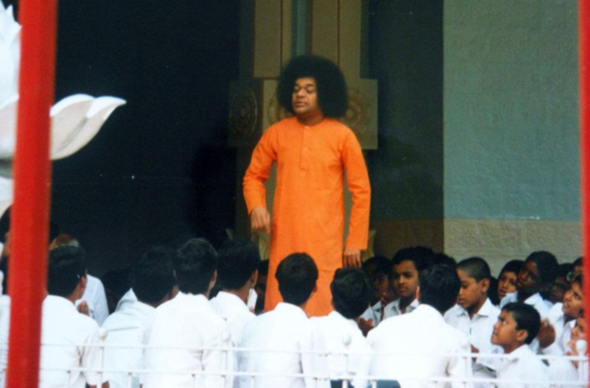 Swami would often become the mother, father, friend, guide and teacher for the little children.