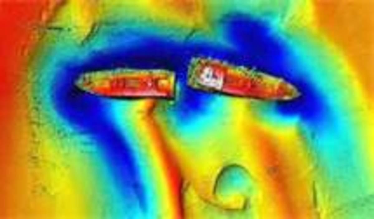 Sonar image wreck Richard Montgomery