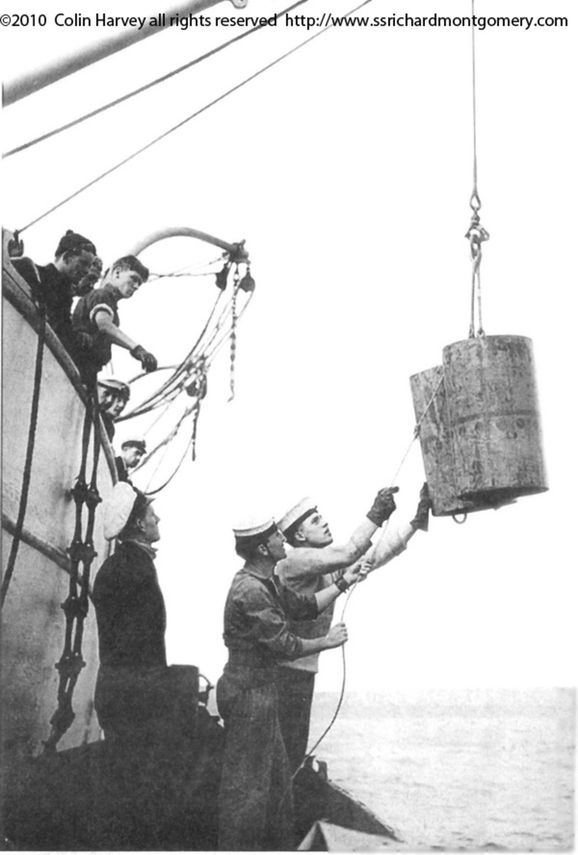 Unloading explosives