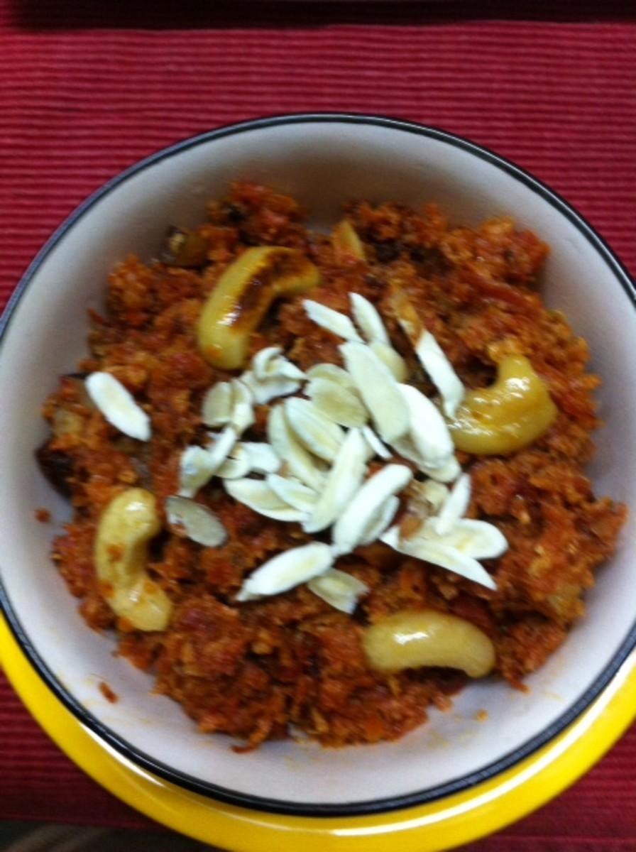 Popular Indian Dessert—Low Calorie Gaajar Ka Halwa/ Carrot Dessert