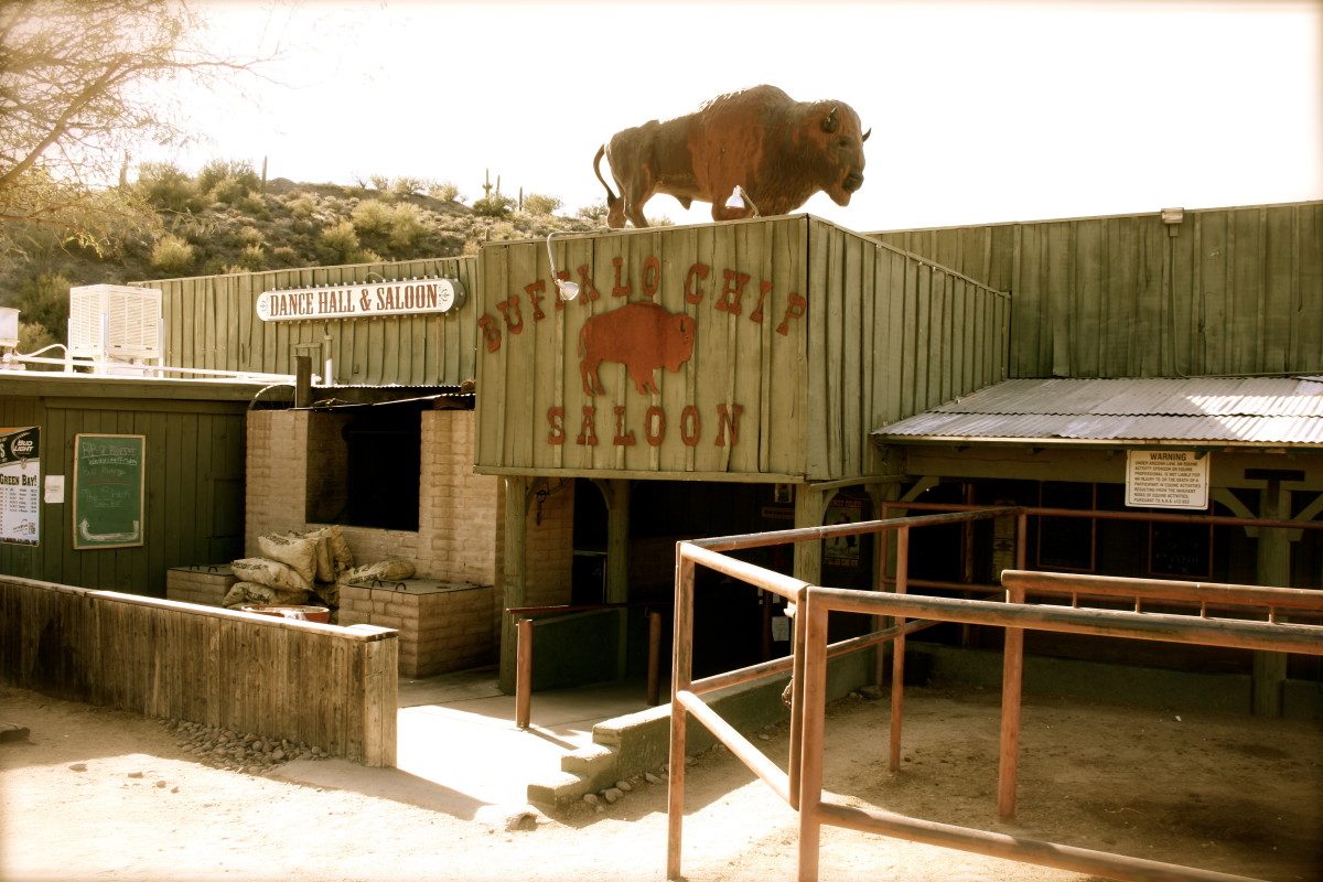 The much-loved Buffalo Chip Saloon has live bull-riding weekly