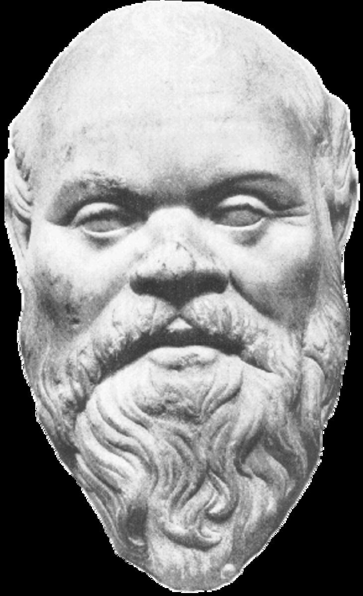 A statue of Socrates.