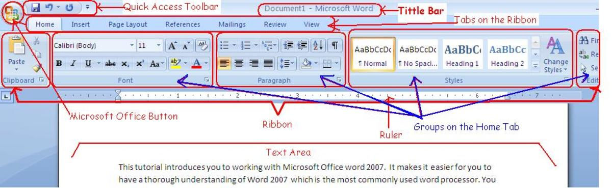 Working with Microsoft Office Word 2007