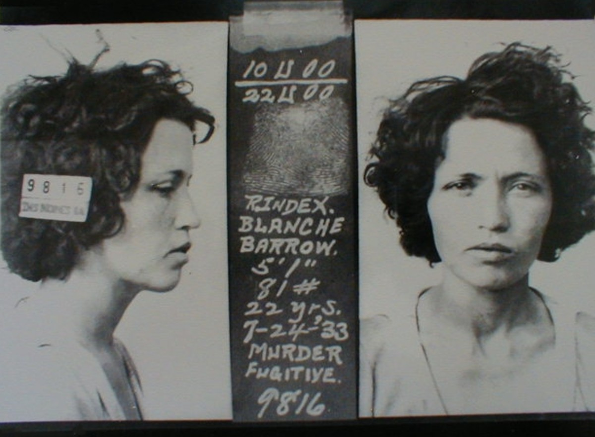 Blanche Barrow Mugshot on July 24, 1933