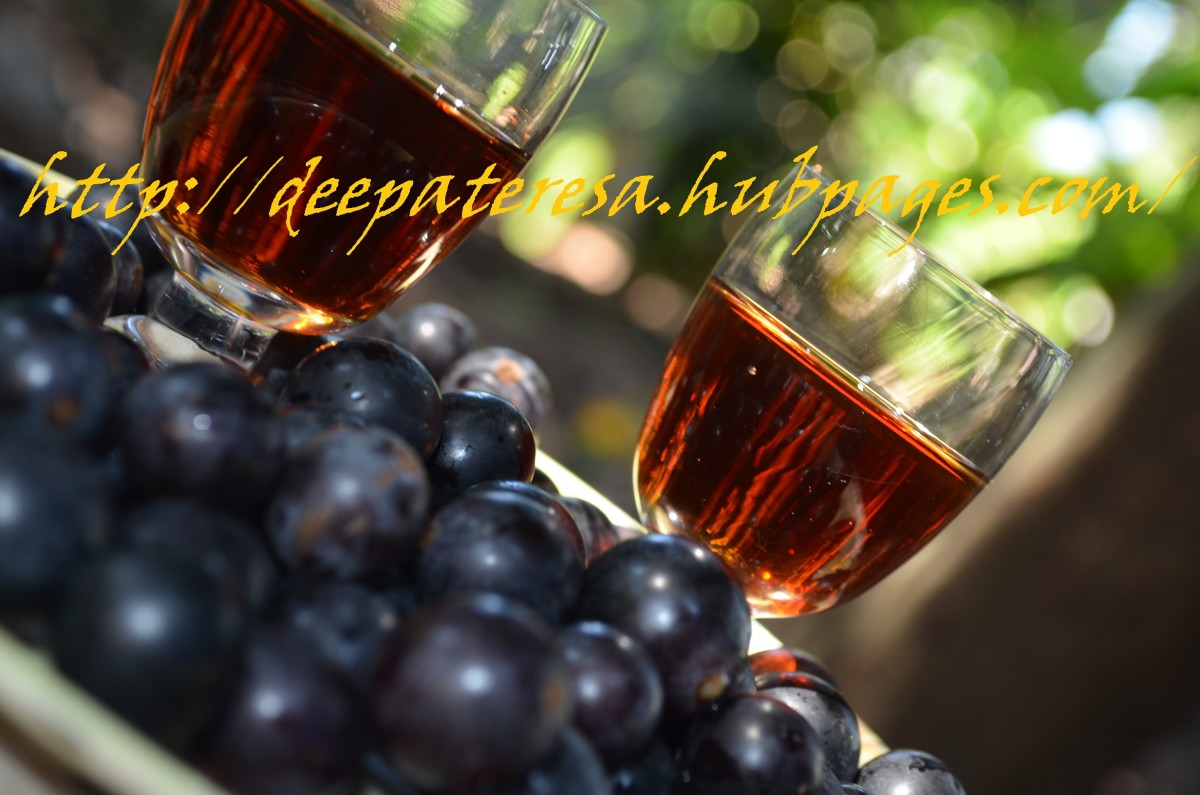 Homemade Grape Wine Recipe from Kerala