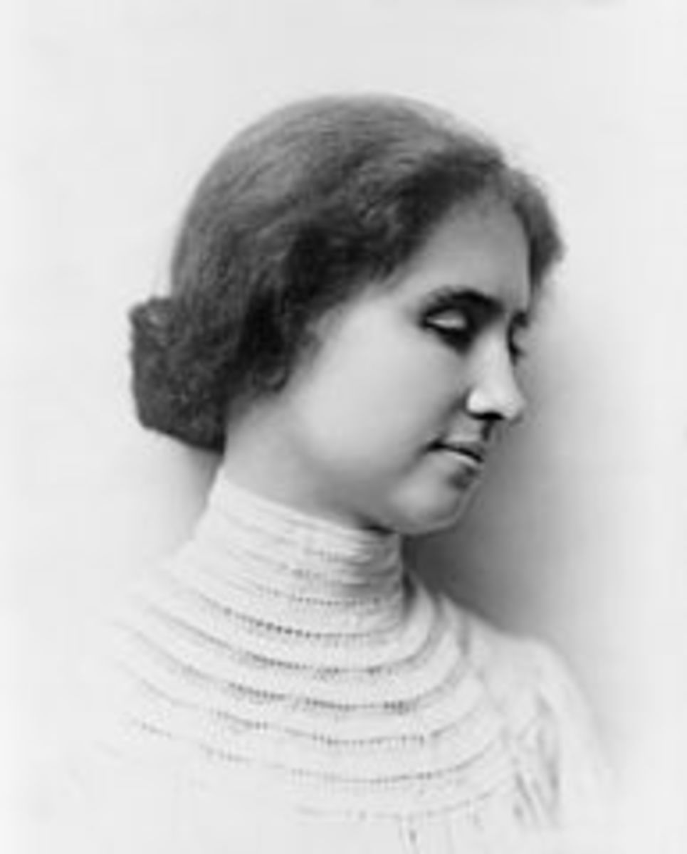 Portrait of Helen Keller dated 1904.