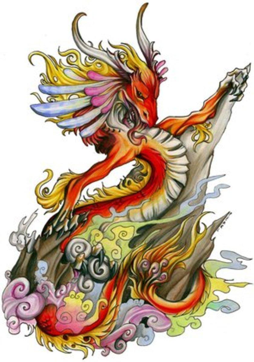 Mythical color dragon