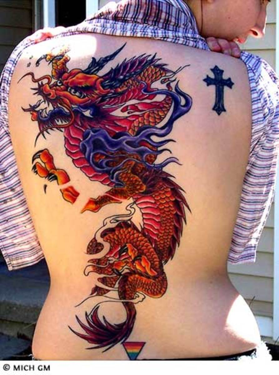 Color Dragon Tattoo Designs With Pictures