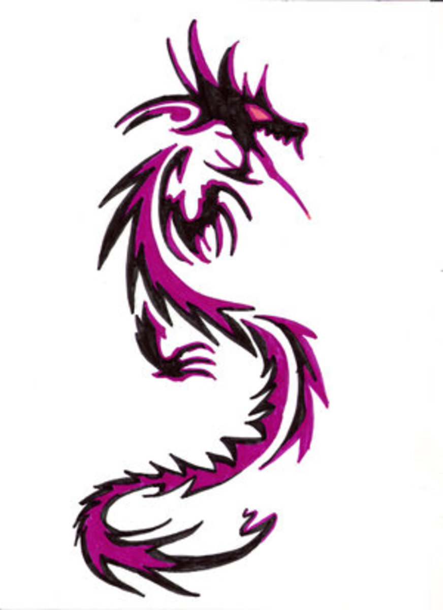 color dragon tattoo designs with pictures hubpages. Black Bedroom Furniture Sets. Home Design Ideas
