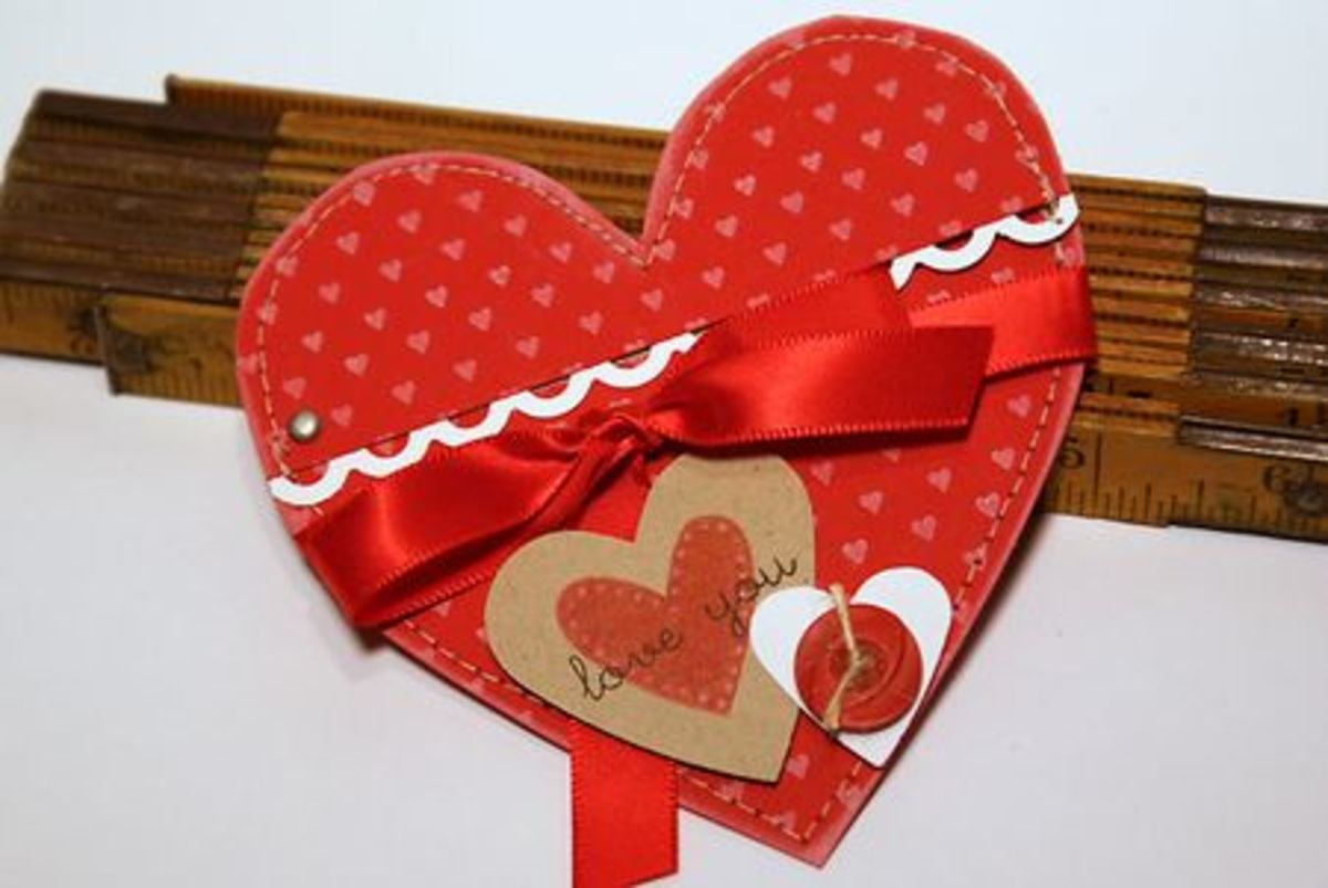 Beautiful Opening Heart Card - Put a secret message inside!