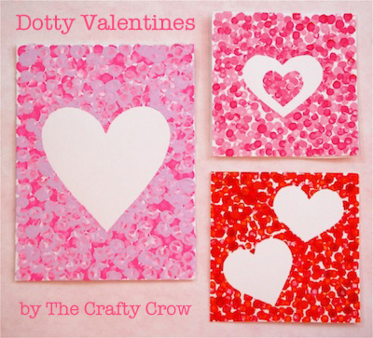 Dotty Heart Valentine Day Card Craft