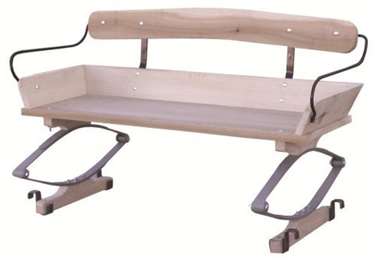 Authentic Wagon Seat with wagon box cleats.