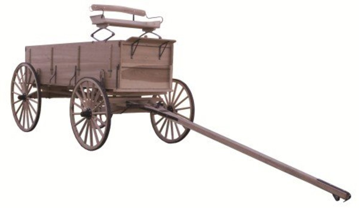 Amish made box wagon with authentic wagon seat attached.