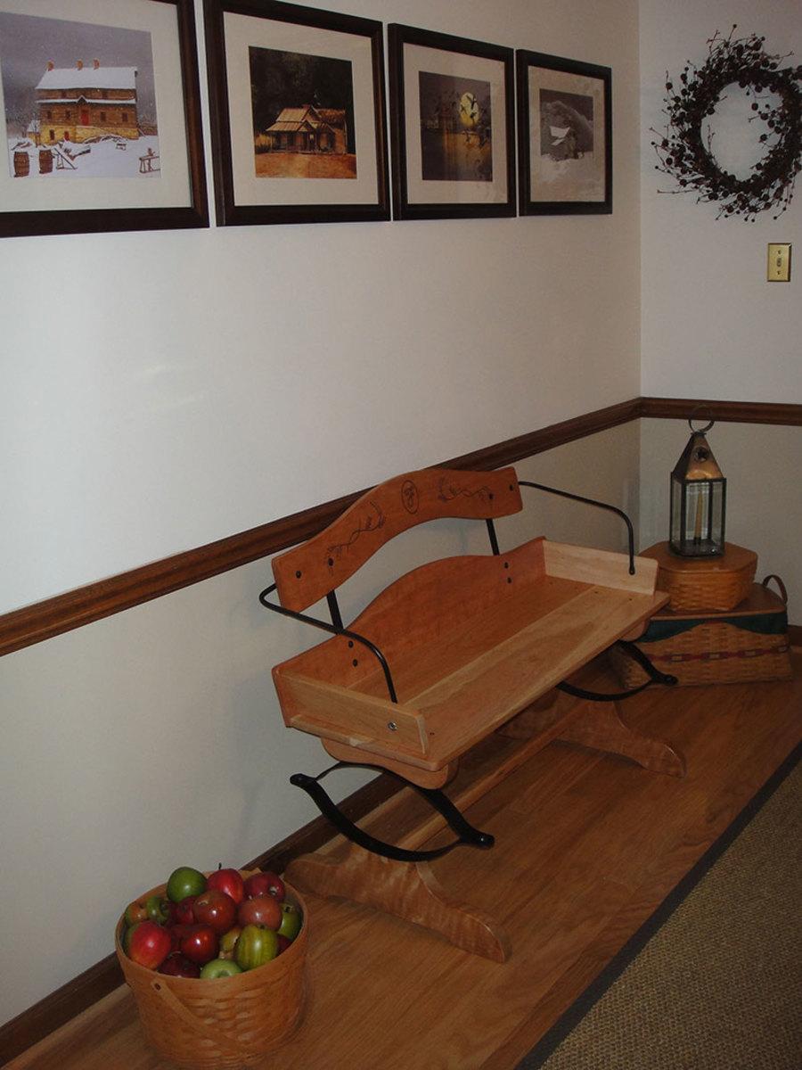 Buckboard Seat in Cherry