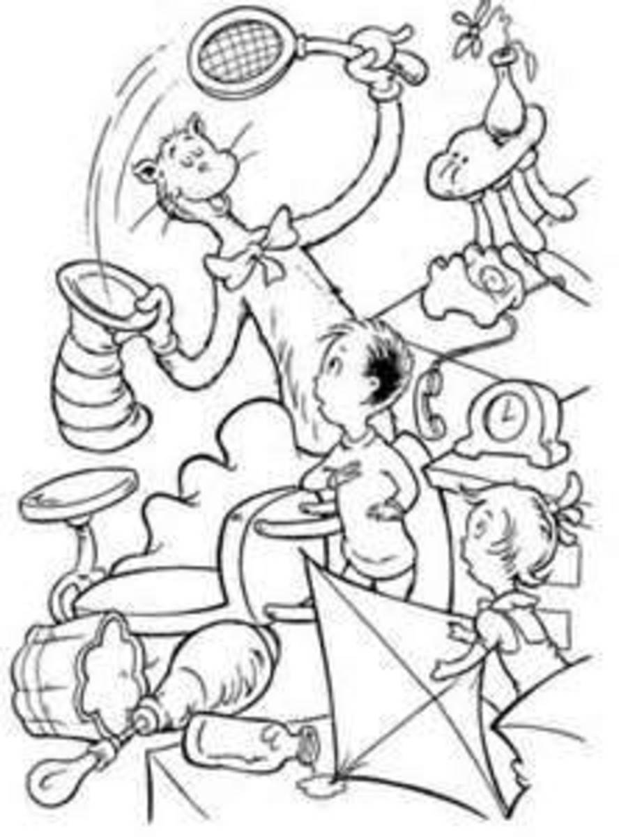 Cat in the Hat Printable Coloring Pages HubPages
