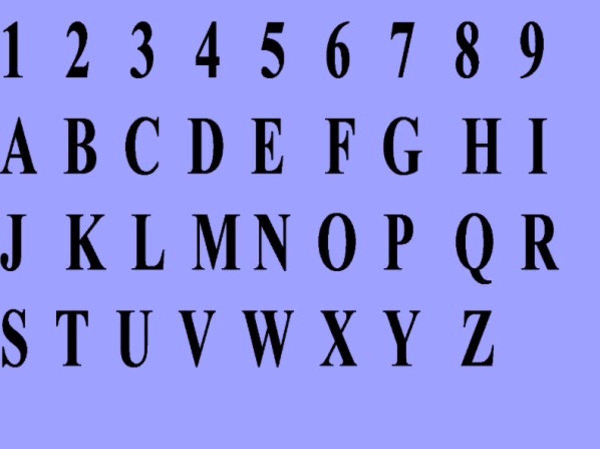 "The well-known ""key"" for turning letters into numbers, said to be ""Pythagorean,""  although the Greek mathematician Pythagoras in the 6th century B.C. did not use this alphabet."