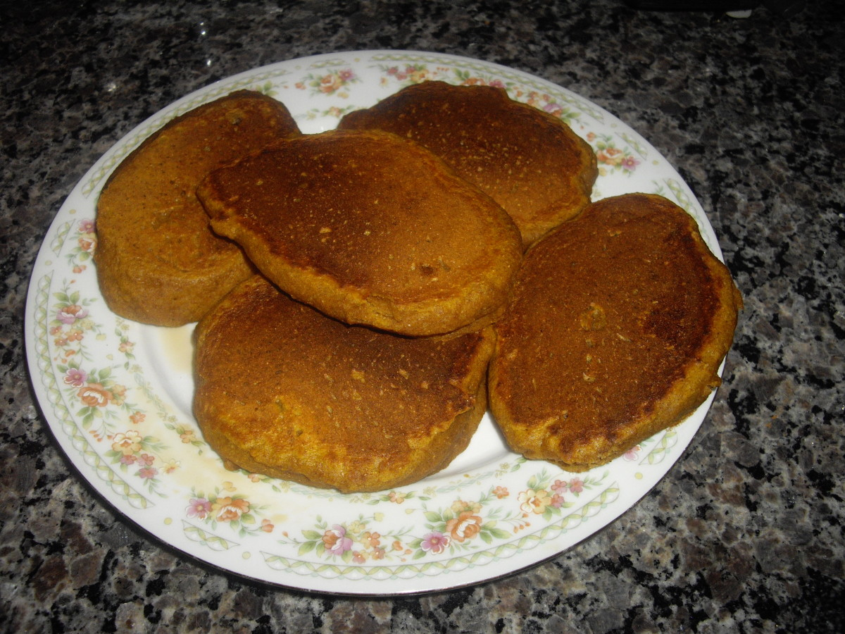 """Fluffy Pumpkin Pancakes"" are my favorite, especially in the Autumn"