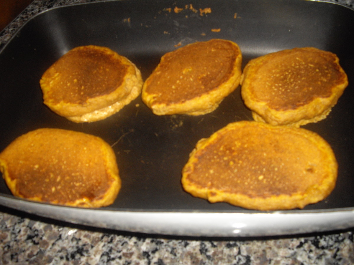 These are the finished pancakes. My electric skillet does such a good job