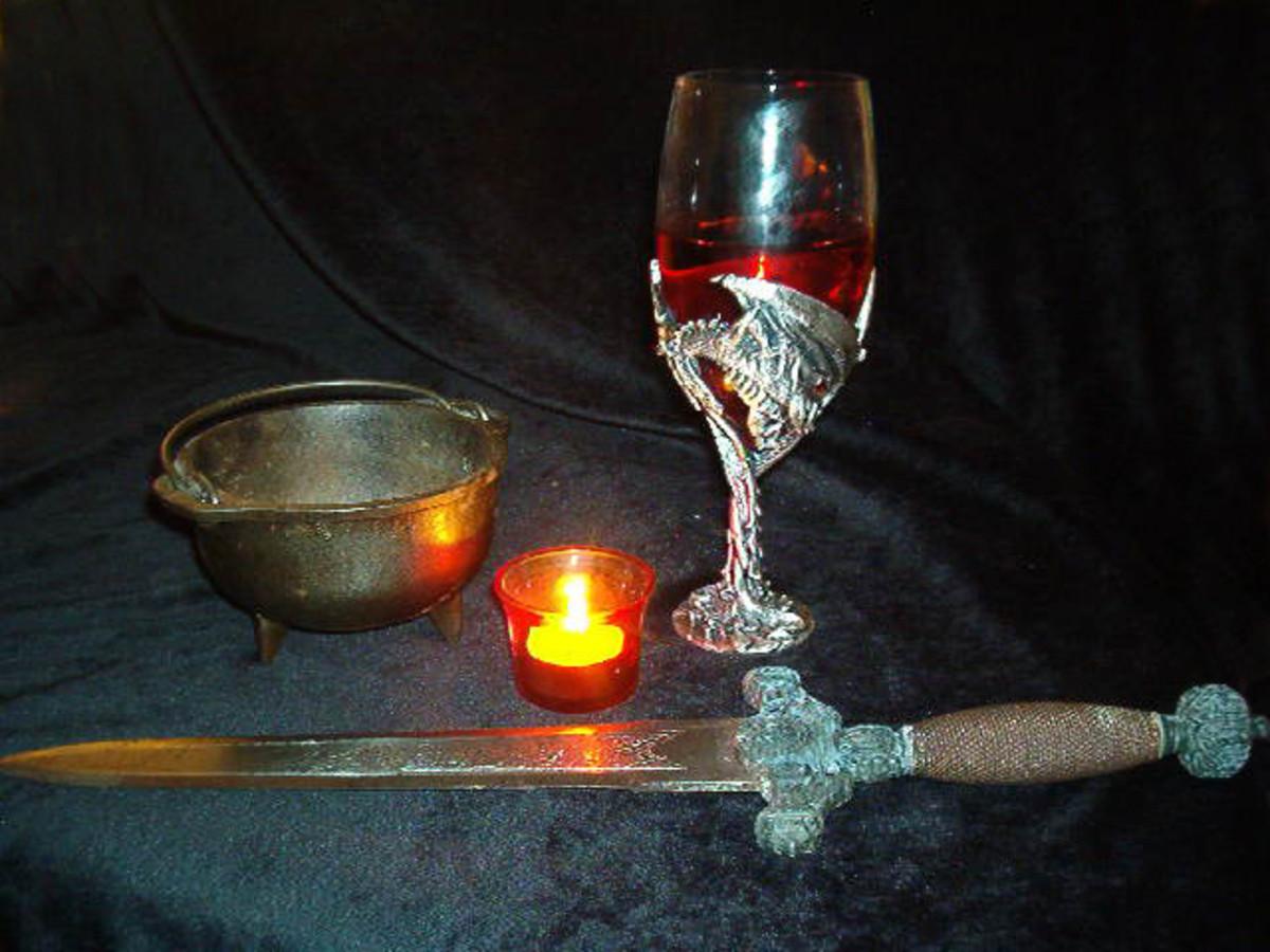 Athame, Cauldron & Cup