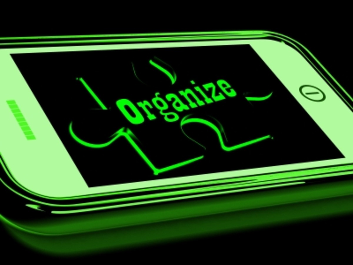 Use apps to organize your life.