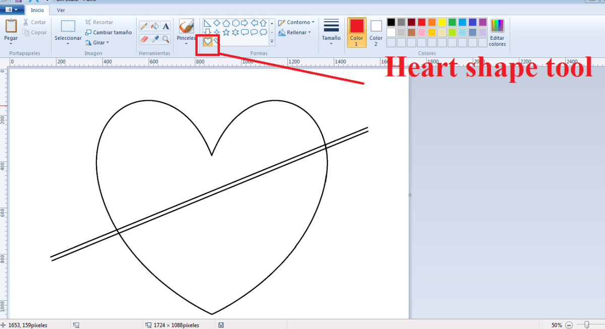 How to Draw Decorative Valentine Hearts with MS Paint?
