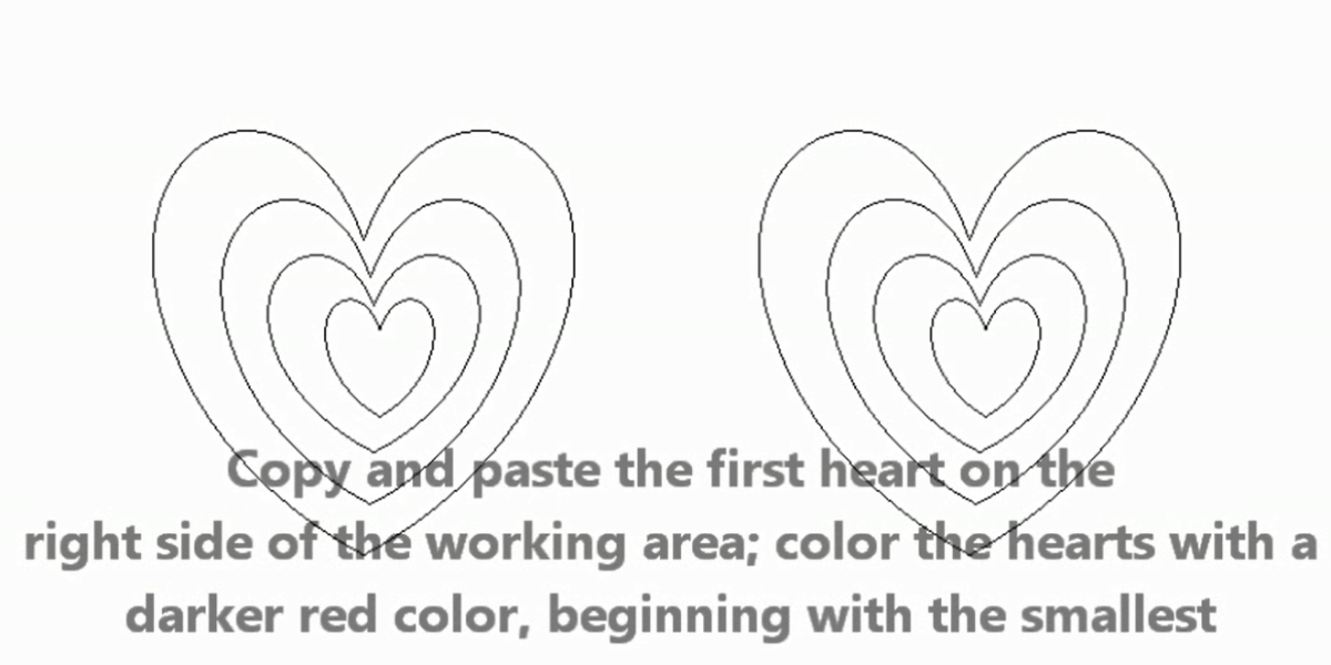 Concentric hearts