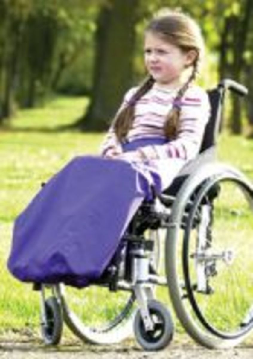Wheelchair cosy toes for children