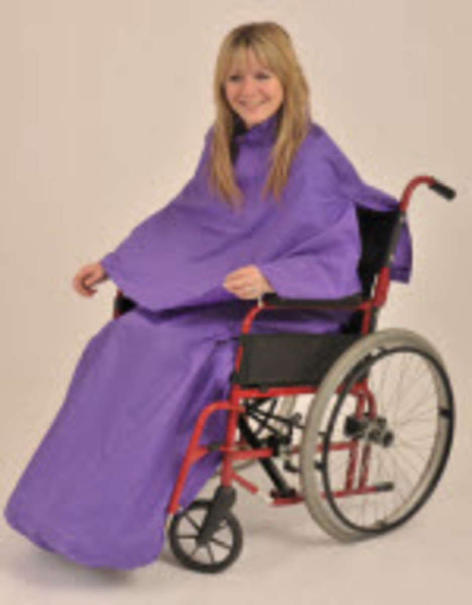 wheelchair waterproof short cape and leg cover