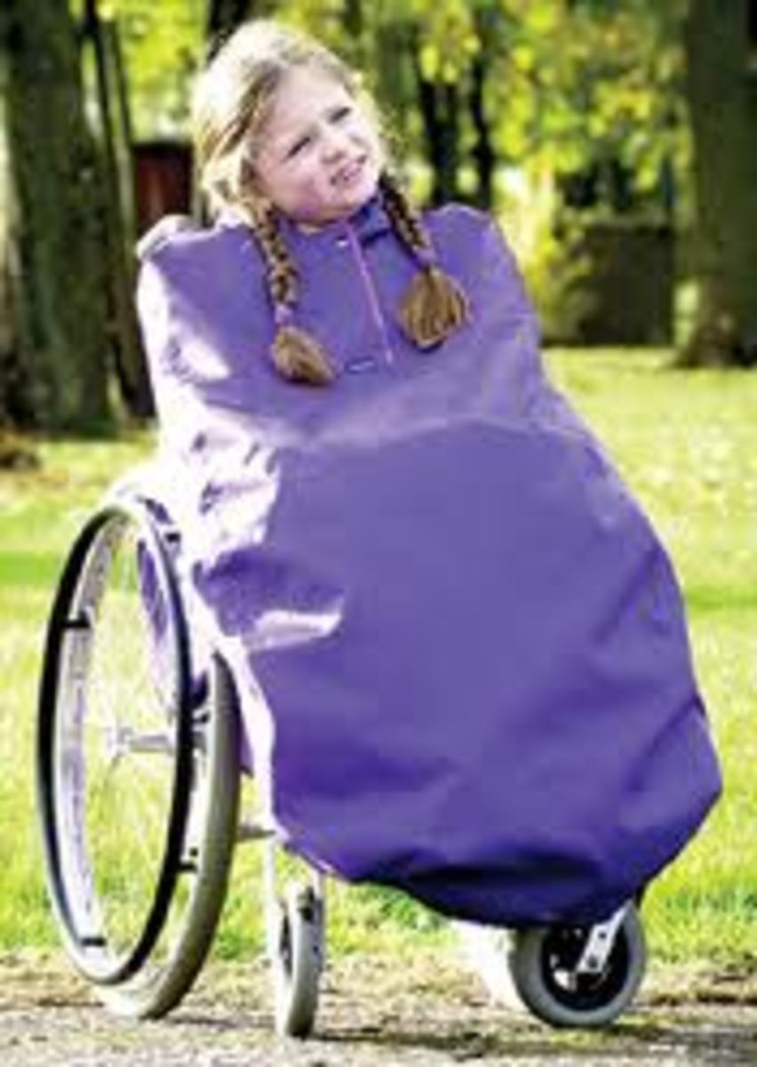Wheelchair coverall for children