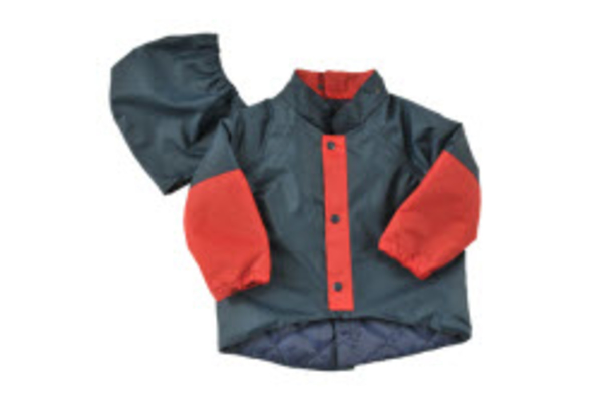 Wheelchair back opening jacket for children
