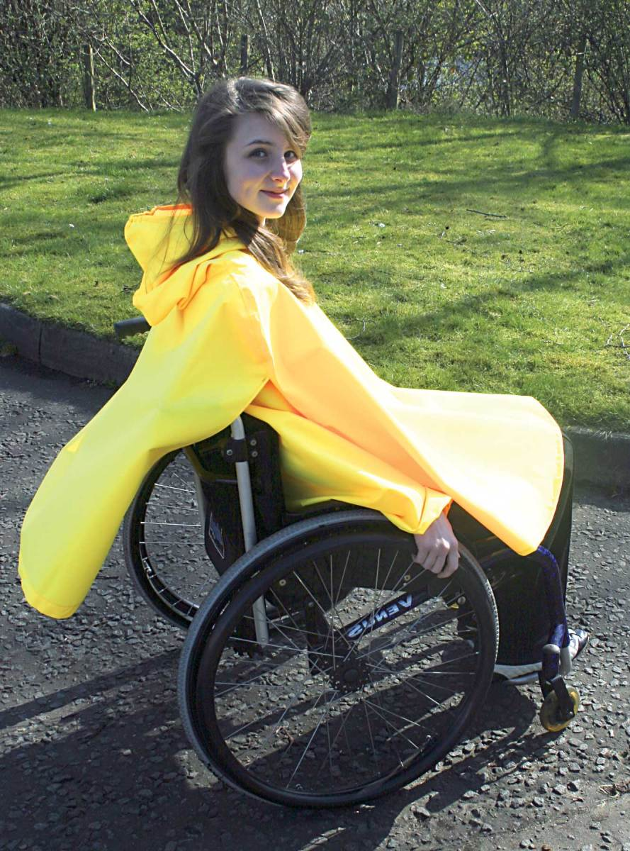 wheelchair waterproof poncho for men, women and children wheelchair users