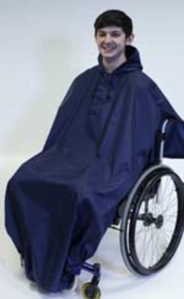 Full length wheelchair rain cover 100% waterproof
