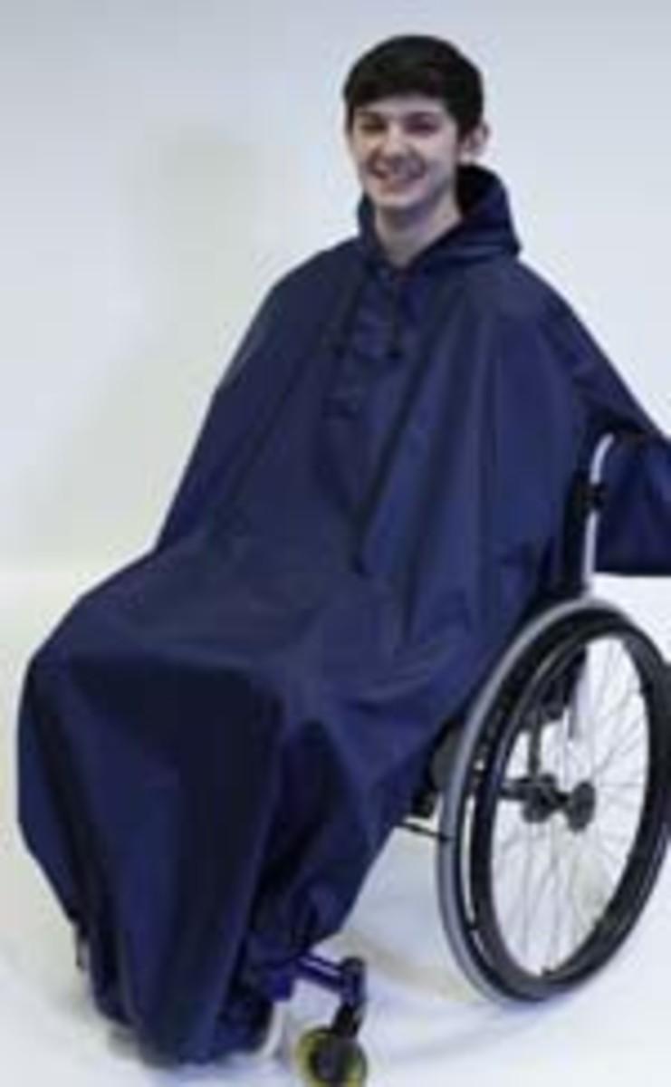 Full length wheelchair rain cover 100% waterproof