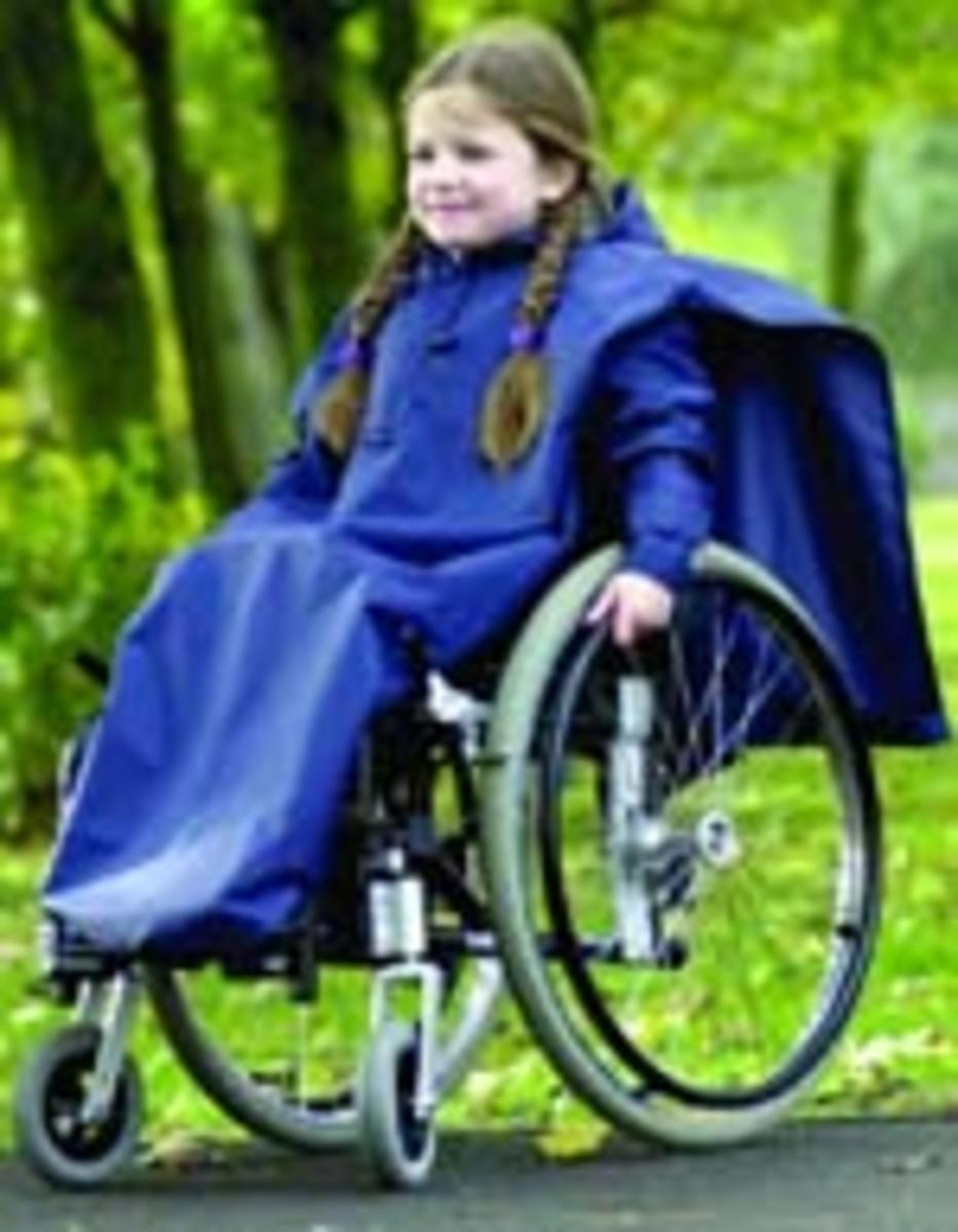 Sleeved wheelchair rain cover for children