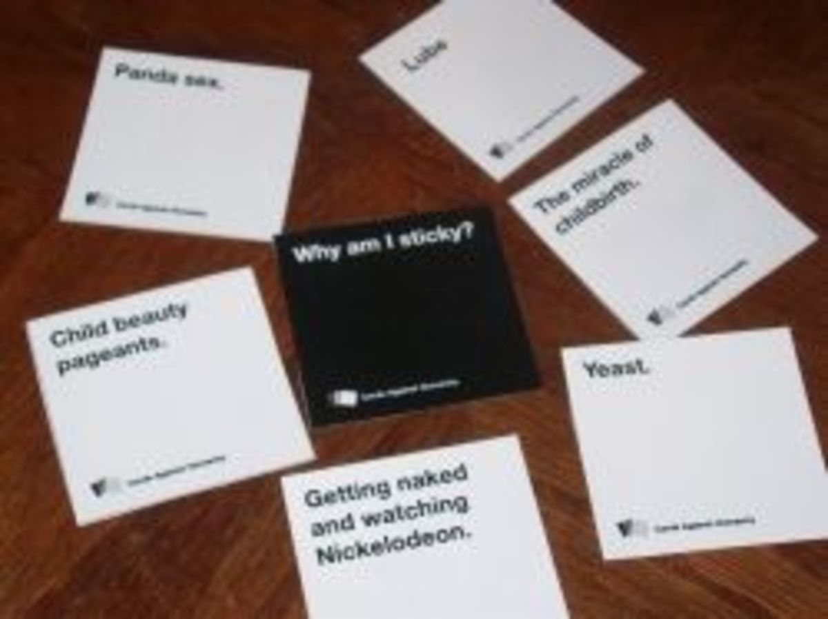 Playing a round of Cards Against Humanity
