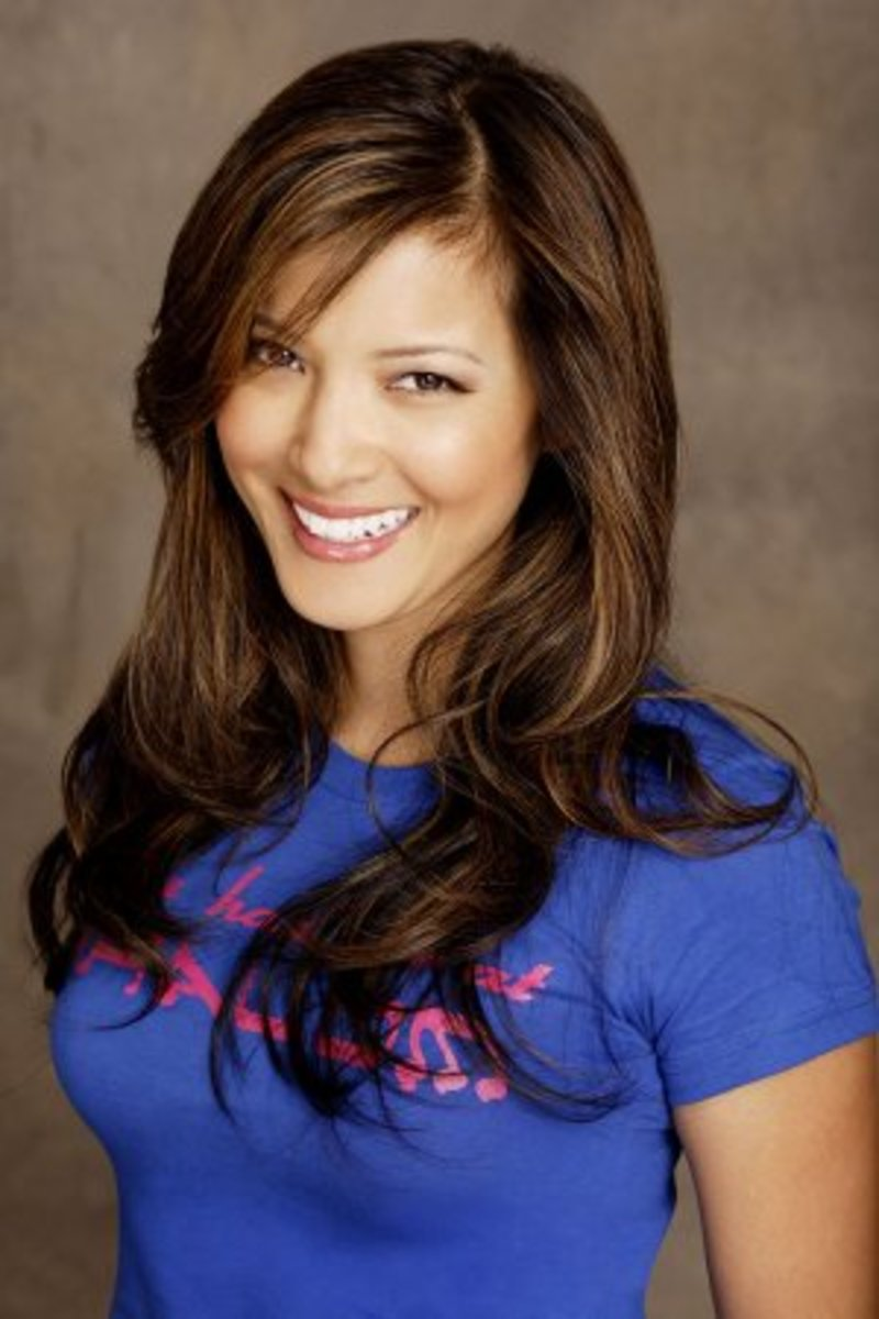 Kelly Hu with Asian Blonde Highlights