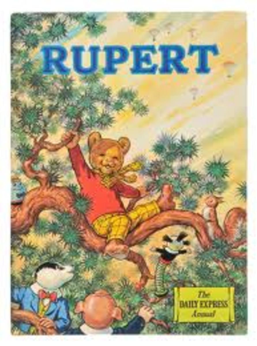 The super rare brown faced 1973 Rupert Annual