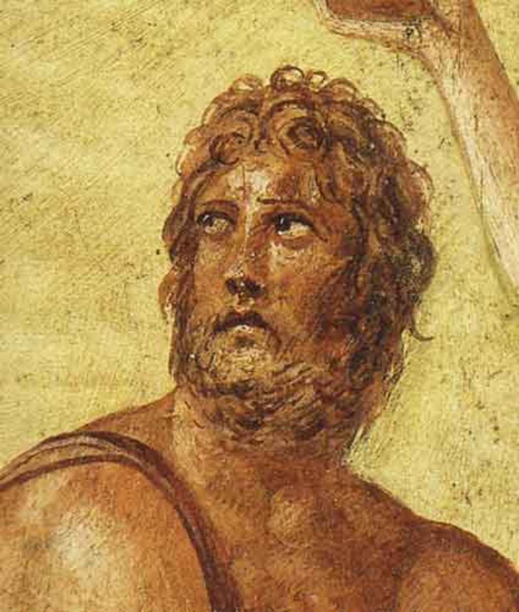 An Artist's Depiction of a Weary Looking Odysseus