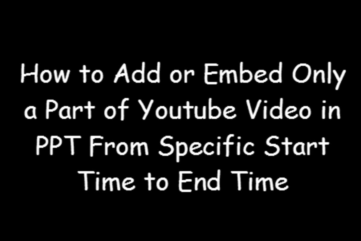 How to Add or Embed Only a Part of Youtube Video in PPT From Specific Start Time to End Time