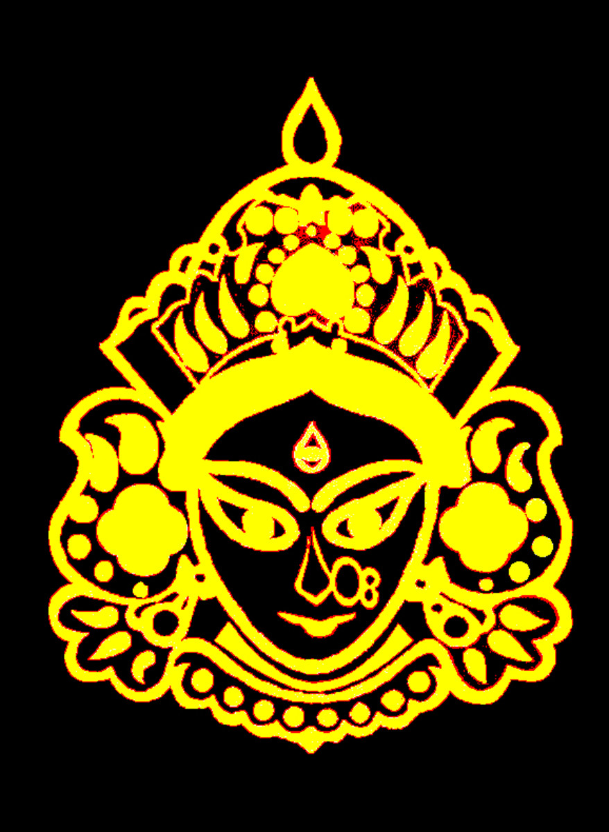 A symbol of Hindu Goddess created in Photoshop