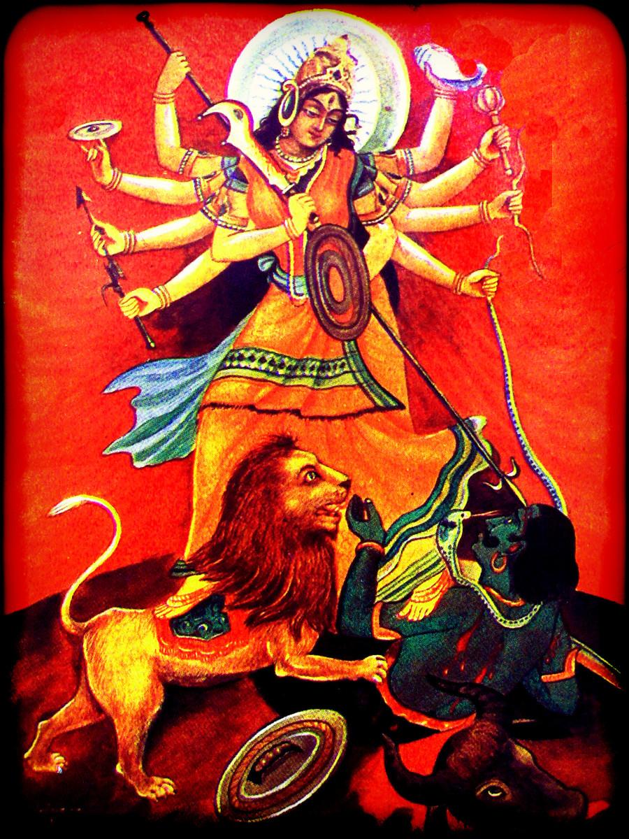Goddess Durga by unknown artist,