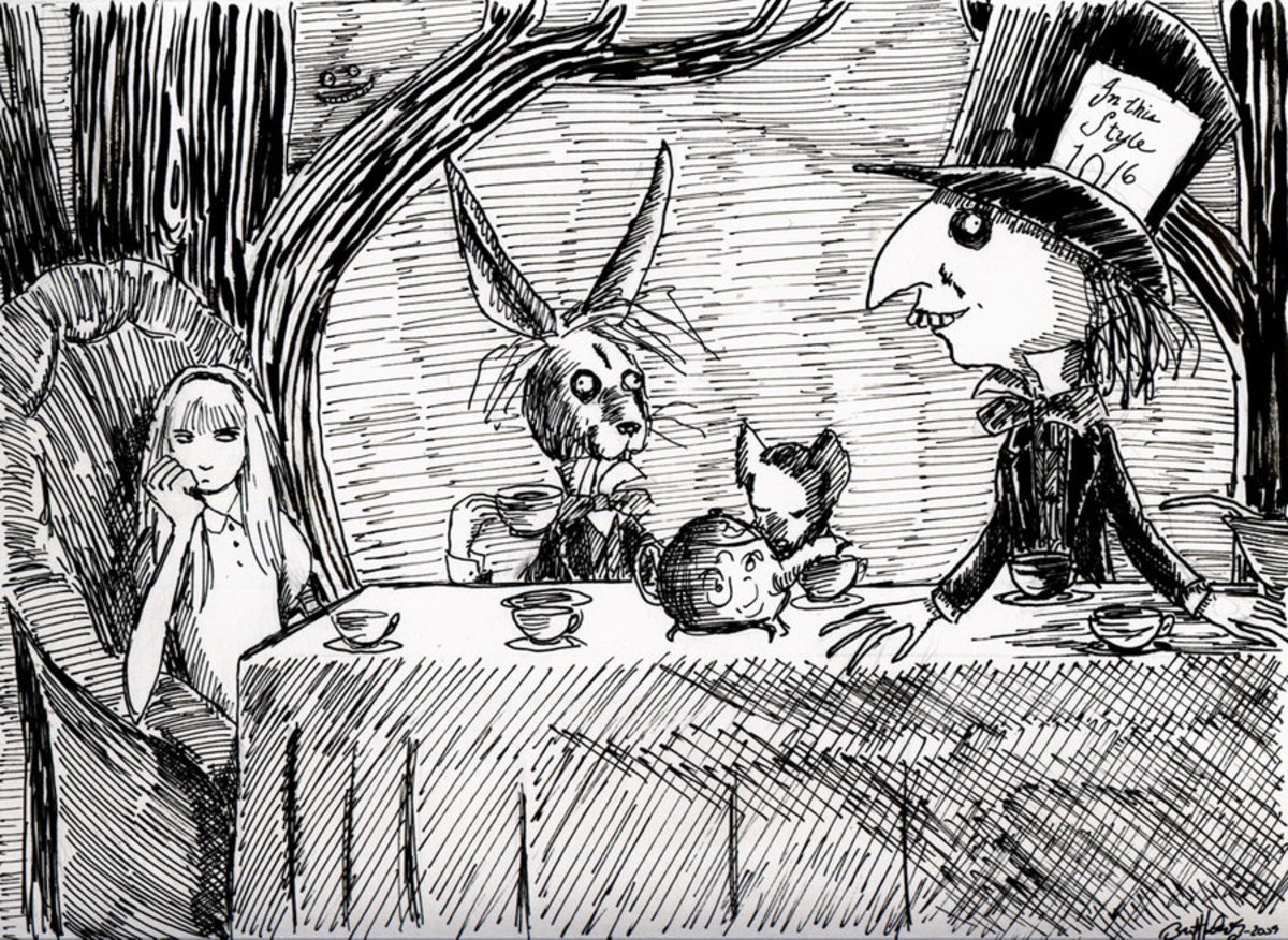 Alice attends a mad teaparty