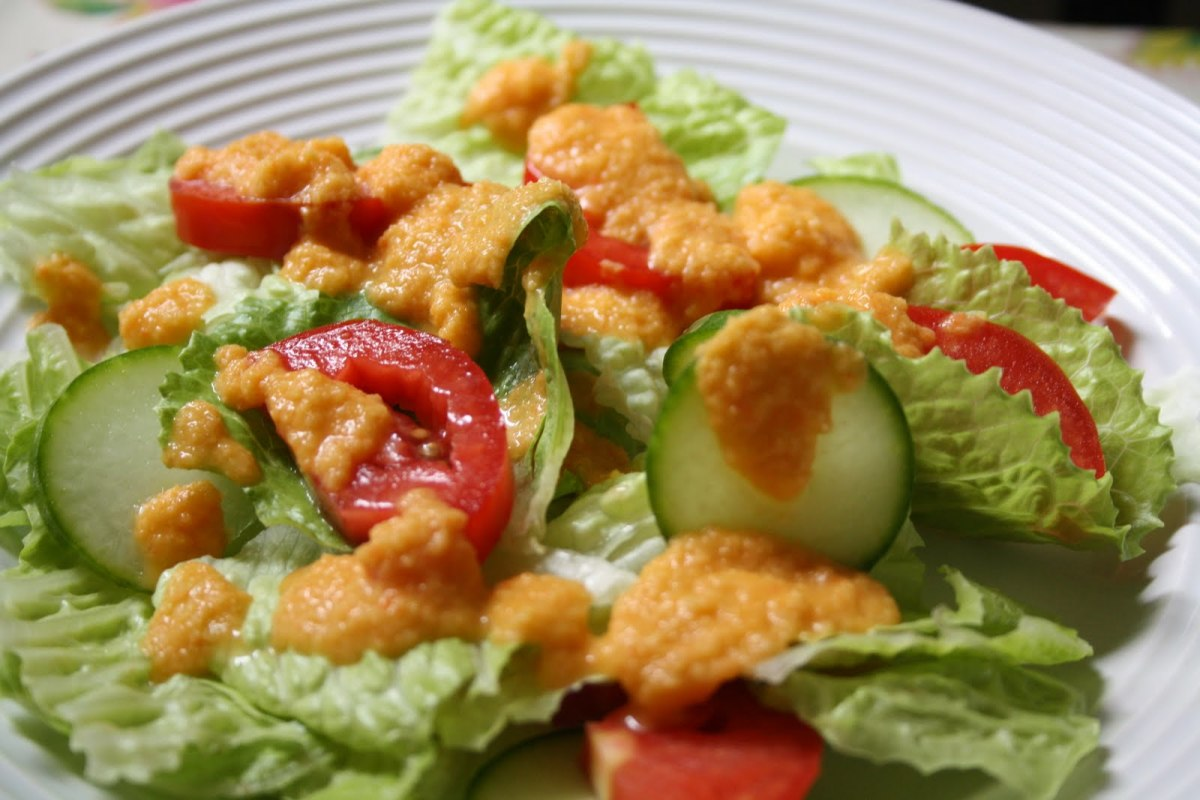 Asian ginger dressing for salad recipe