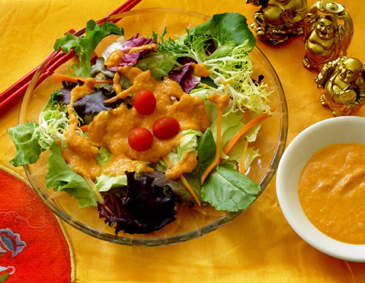 Japanese Ginger Salad Dressing Recipe (copy-cat version.  Tastes like Wasabi, Fuji, Benihana Style)!