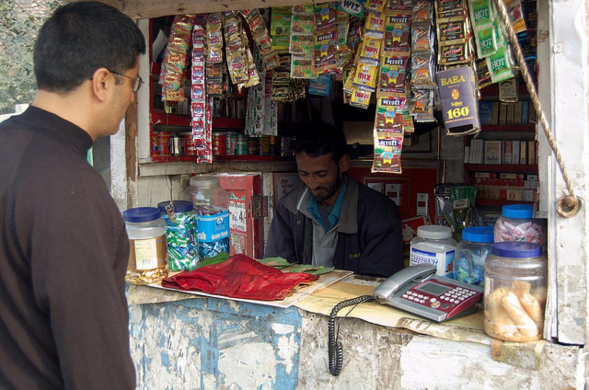 A paan shop