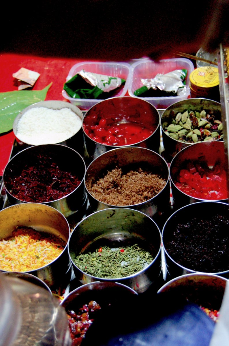 the array of ingredients used in paan