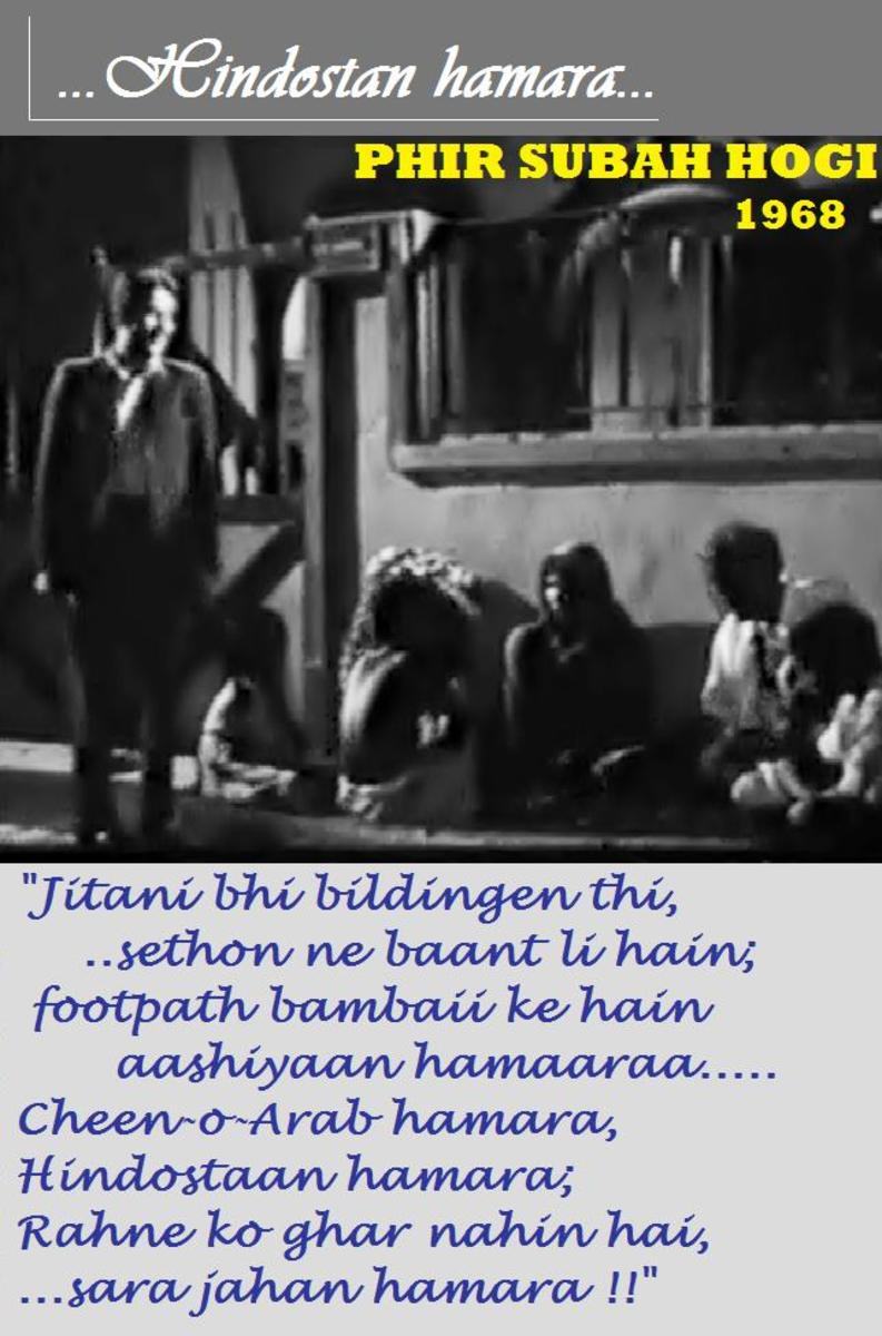 Raj Kapoor in PHIR SUBAH HOGI - A great satire on life of a poor Indian in the sixties