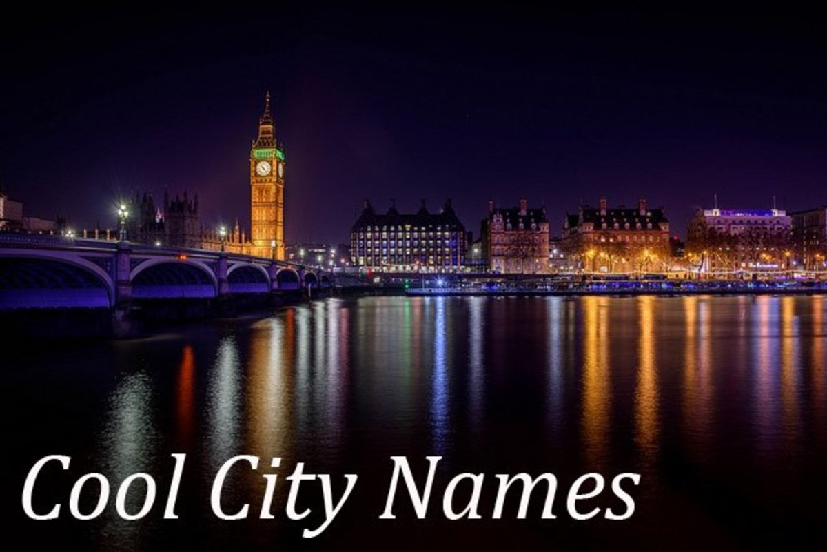 Cool and Unique City Names for Writers... and Travelers