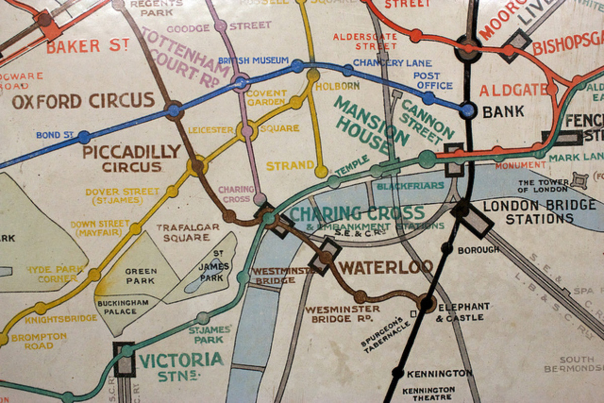 Old London tube map.