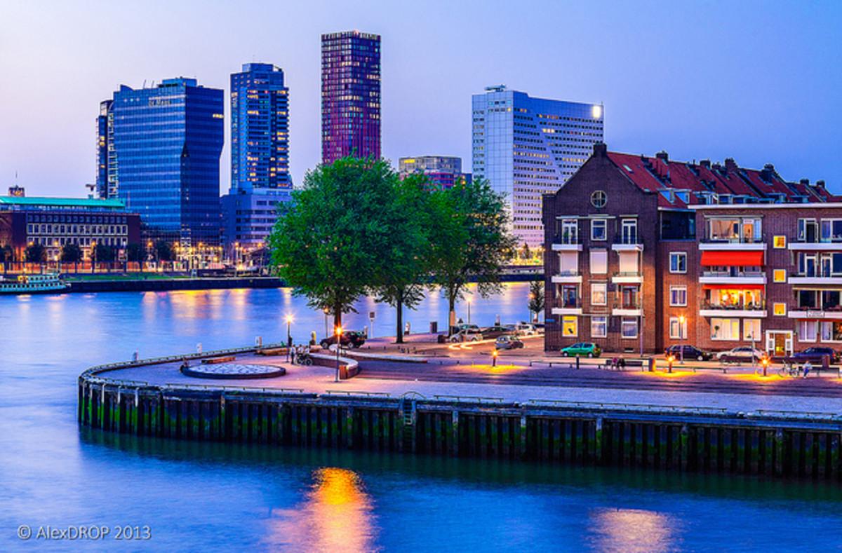 West end of Noordereiland - Rotterdam, The Netherlands (Holland)